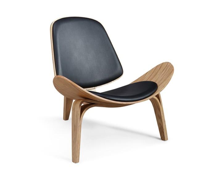 Cadeira Fixa Design - Base em Madeira - Assento Estofado - Anima Home & Office