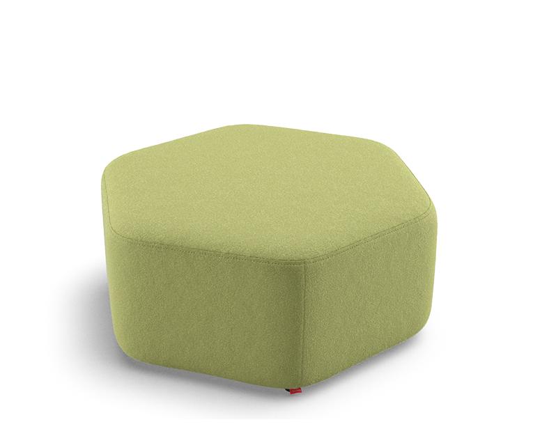 Puff Hexagonal Regular Baixo 36635 - Altura 350mm x Profundidade 815mm x Largura 719mm - Linha Fun - Cavaletti