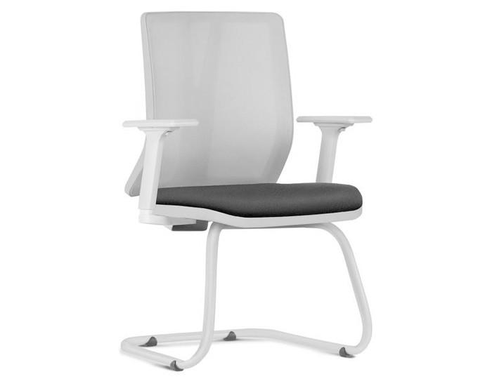 Cadeira Fixa KADD85 - Estrutura Cinza - Base Fixa Diretor Cinza - Linha Addit - Com Braço - Frisokar