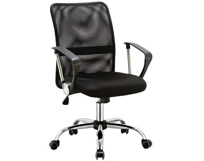 Cadeira Diretor Topázio - Encosto em Tela - Com Apoio Lombar - Base Cromada - Pelegrin