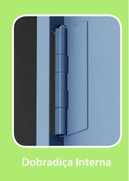 Armário 2 portas -  3 prateleiras Fixas -  Com Pitão para Cadeado - 1500 mm X 760 mm X 330 mm - CH 26 -