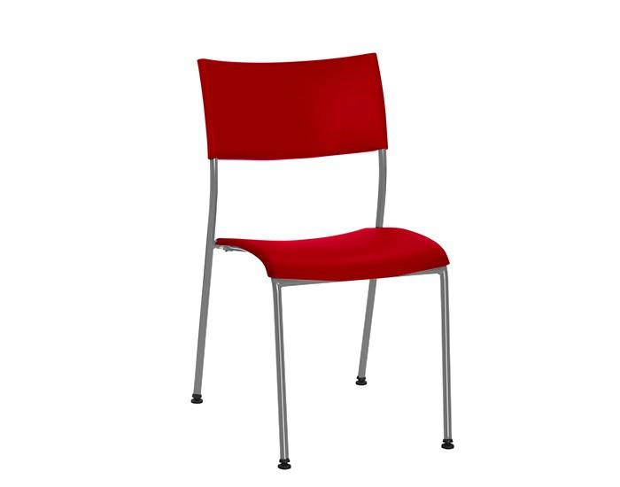Cadeira Fixa NEW003 - Base Fixa Cinza - Linha New Coletiva- Sem Braço - Frisokar