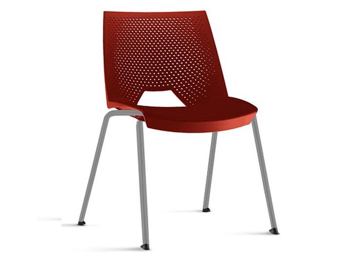 Cadeira Fixa YSTR02 - Base Fixa Cinza- Linha Strike - Sem Braço - Frisokar