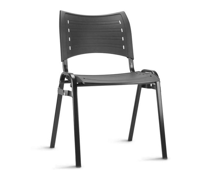 Cadeira Fixa ISO021 - Base Fixa Preta Com Engate Lateral - Linha ISO - Sem Braço - Frisokar