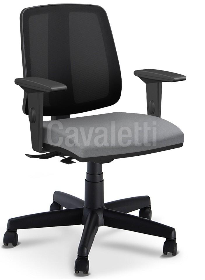 Cadeira para escritório executiva giratória 43103 SRE - Linha Flip - Braço SL - Cavaletti - Aranha POLAINA