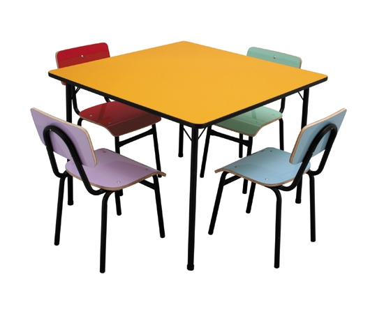 Conjunto de mesa infantil (1 à 5 anos) colorido - Dellus