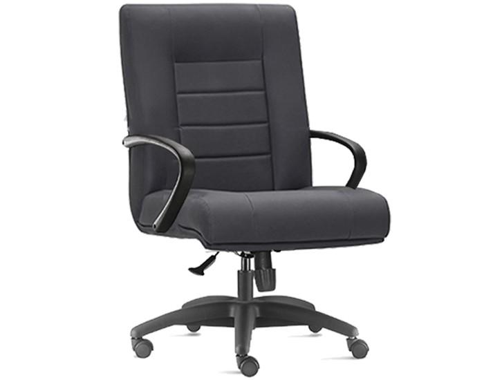 Cadeira para Escritório Diretor Giratória ONI012- Mecanismo Sincron - Base Nylon - Com Braço - Linha New Onix - Frisokar