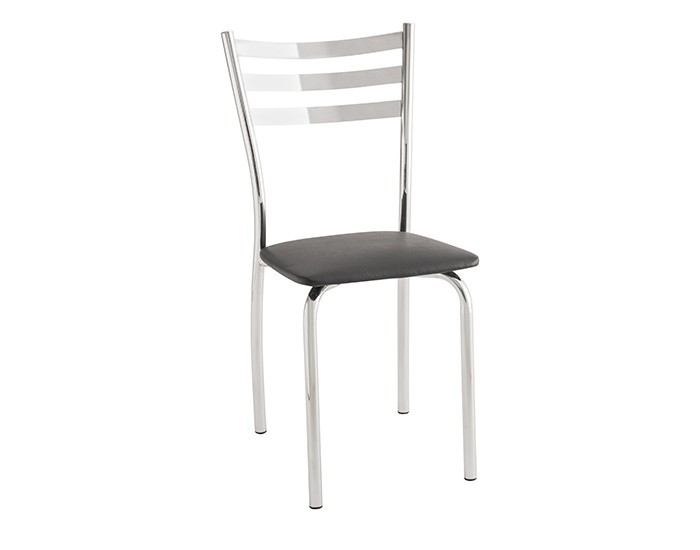 Cadeira 421 em Aço - Assento Quadrado - Estofada - Unimóvel