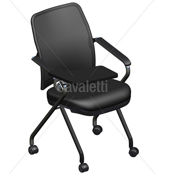 Cadeira Universitária 16506 Z -  Prancheta Retrátil - Estrutura Preta - Linha NewNet Soft - Cavaletti