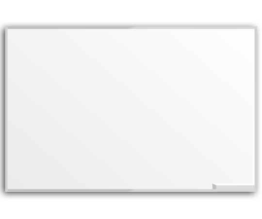 Quadro branco c/ borda em alumínio 2,74x1,20x15 - Dellus