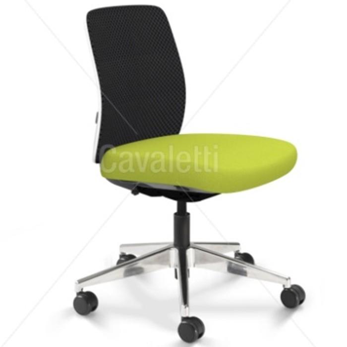 Cadeira para escritório giratória média 40202 Reunião - Linha Idea - Cavaletti - Base Alumínio