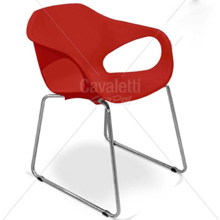 Cadeira para escritório fixa aproximação 33107 Arco - Linha Stay - Cavaletti