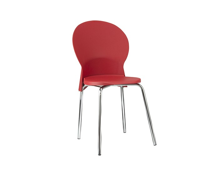 Cadeira Fixa LUN03 - Base Fixa Cromada - Linha Luna - Sem Braço - Frisokar