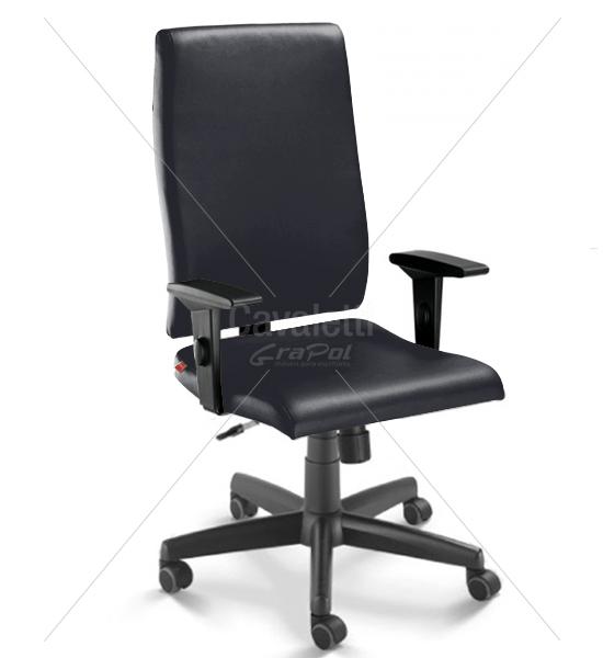 Cadeira para escritório giratória presidente 18001 Relax - Linha Slim - Braço SL - Cavaletti - Base Polaina