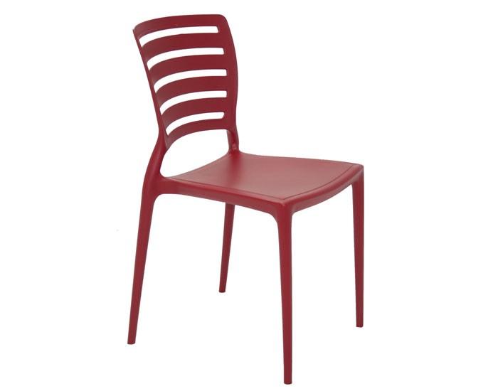 Cadeira Tramontina Sofia sem Braços Encosto Vazado Horizontal em Polipropileno e Fibra de Vidro