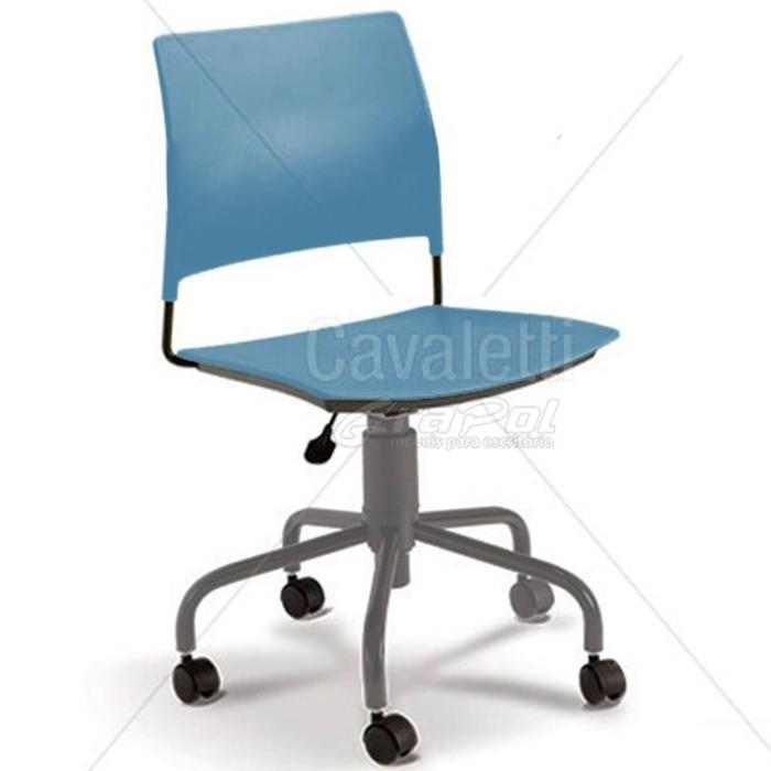 Cadeira para escritório executiva giratória 34003 - Sem Braço - Linha Go - Cavaletti - Base Aranha Prata