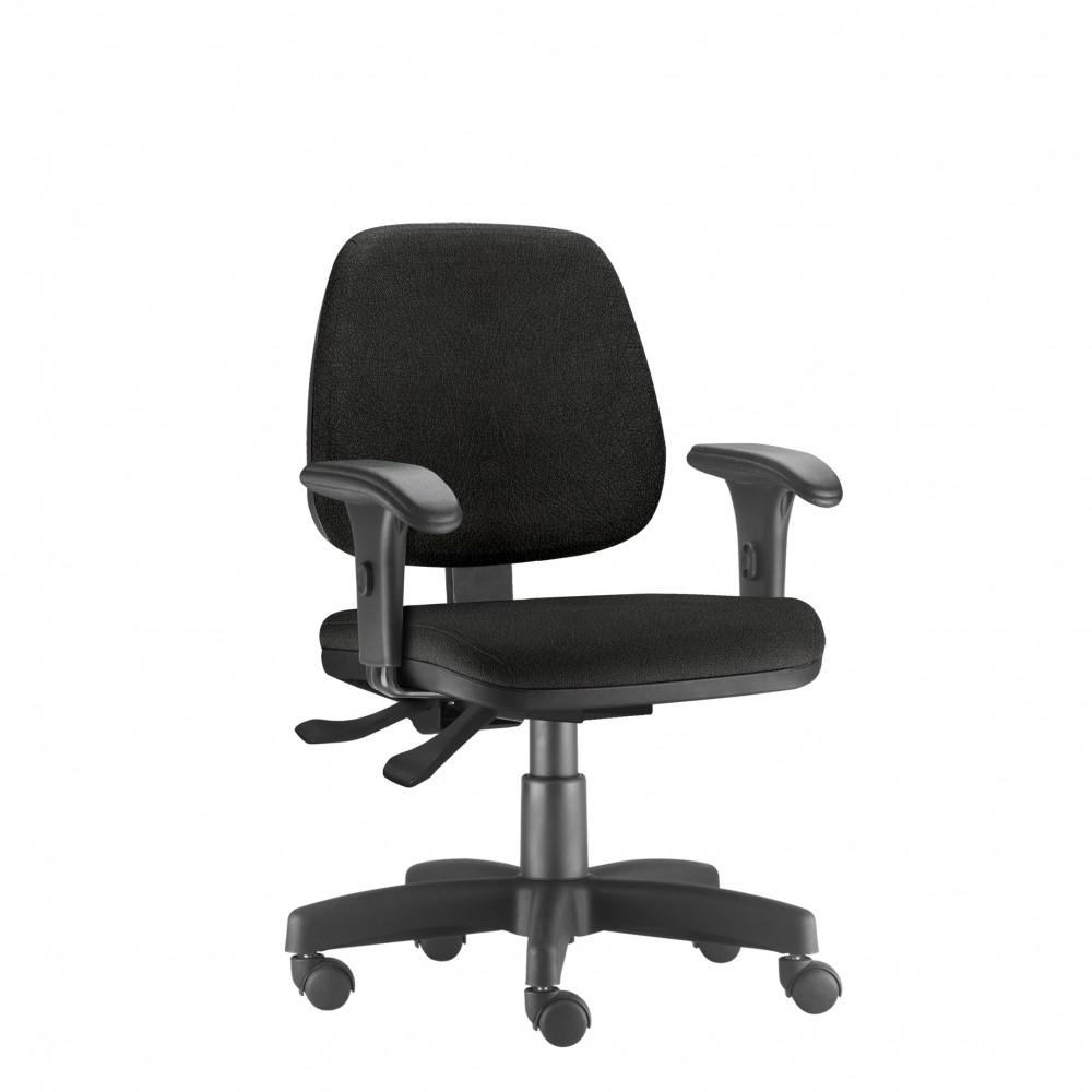 Cadeira Para Escritório Diretor Giratória JOB237 - Mecanismo Evolution - Base Metálica com Capa - Linha Job - Com Braço - Frisokar
