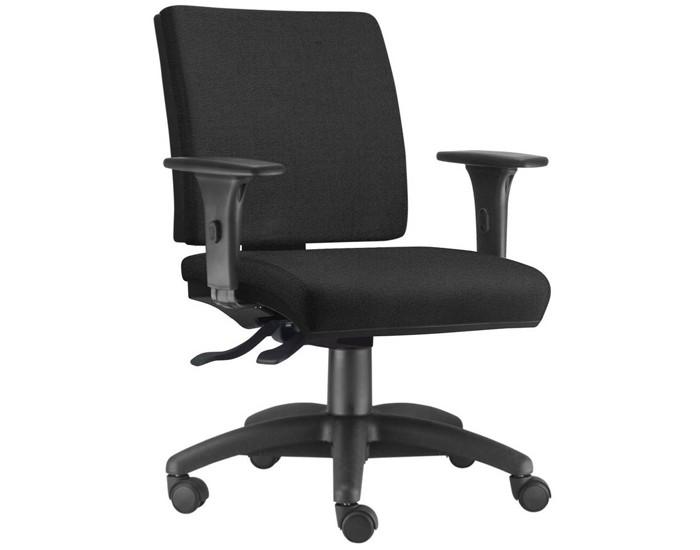 Cadeira para Escritório Diretor Giratória SIM074 - Mecanismo Evolution - Base Nylon - Com Braço PU - Linha Simple - Frisokar