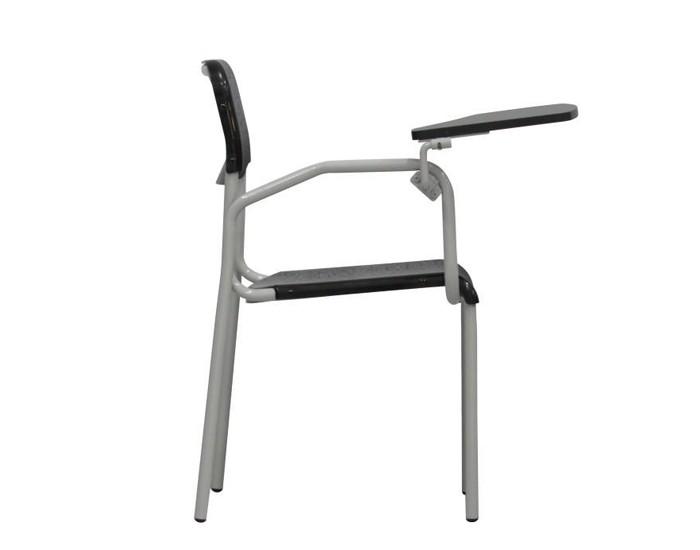Cadeira Fixa ESC004 - Base Fixa Cinza - Com Prancheta Escamoteável - Sem Gradil - Linha Escolar - Frisokar
