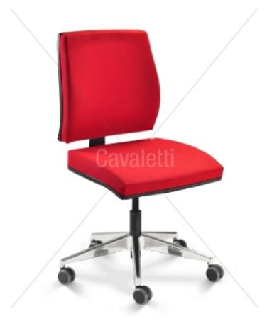 Cadeira para escritório giratória 37002 SL - BG - Linha Mais - Cavaletti - Base em Alumínio