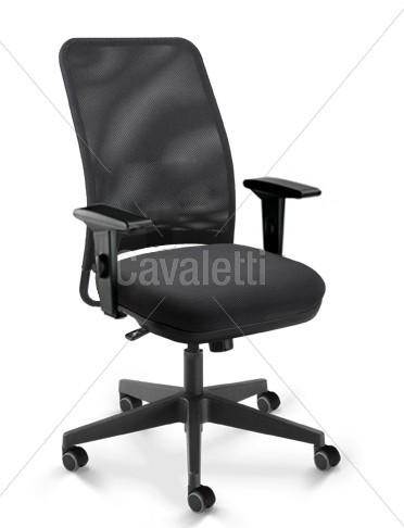 Cadeira para escritório giratória diretor 16002 - Syncron - Linha NewNet - Braço SL - Cavaletti - Base Nylon
