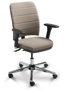 Cadeira para escritório executiva giratória 16503 SRE SL -  Linha Soft - Braço SL - Cavaletti - Base Estampada Cromada