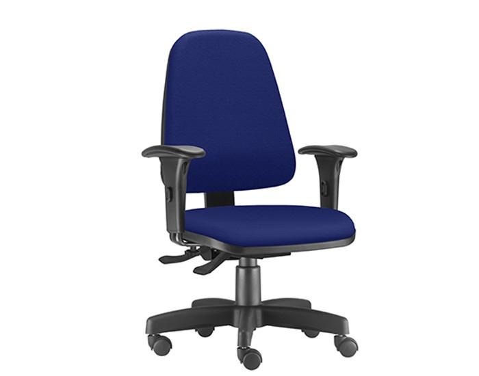 Cadeira Para Escritório Presidente Giratória SKY411 - Mecanismo Evolution - Base Metálica com Capa - Linha SKY- Com Braço PP - Frisokar