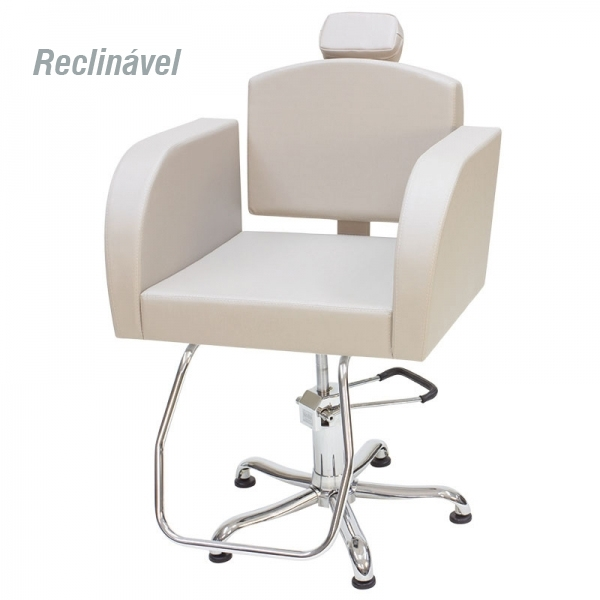 Cadeira Capri - Encosto Reclinável - Com Cabeçote - Kixiki Móveis