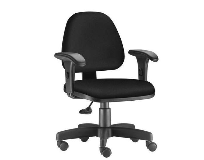 Cadeira Para Escritório Diretor Giratória SKY181 - Mecanismo Base a Gás - Base Metálica com Capa - Linha SKY- Com Braço PP - Frisokar