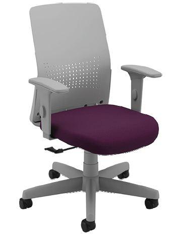 Cadeira Giratória 17601 - Syncron Auto Ajustável - Encosto Plastico Cinza  - Linha Moov Light - Braço SL New PP - Cavaletti - Aranha Polaina - Estrutura Cinza