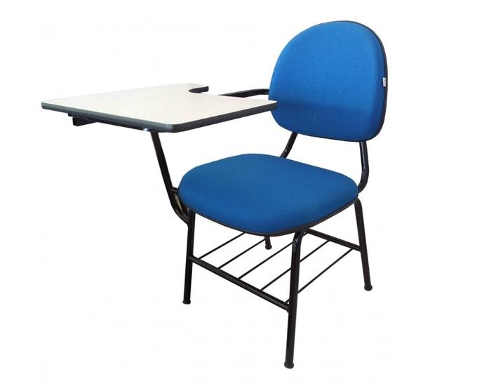 Cadeira Universitária Executiva - Prancheta Grande Dobrável - Com Gradil - Espuma Injetada - Dellus