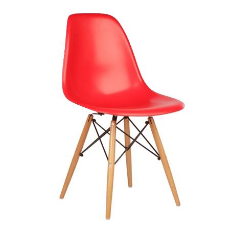 Cadeira Fixa Charles Eames -  Concha em Polipropileno - Base em Madeira - Anima Home & Office