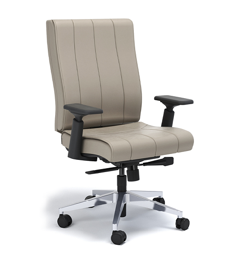 Cadeira para escritório giratória presidente 20502 - Syncron - Linha Essence - BRAÇO 4D - Cavaletti - Base Alumínio