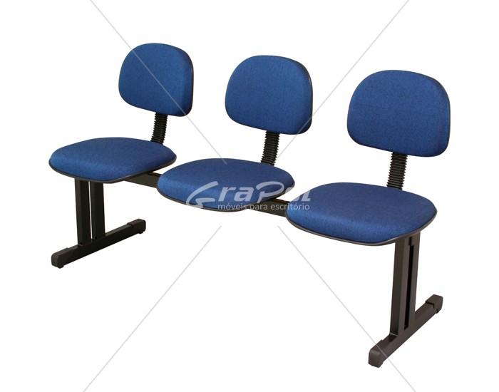 Cadeira Longarina Secretária - 03 Lugares - Dellus