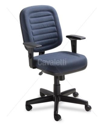 Cadeira para escritório Diretor Giratória 6002 BG - Linha Start - Base SL - Cavaletti - Base Polaina