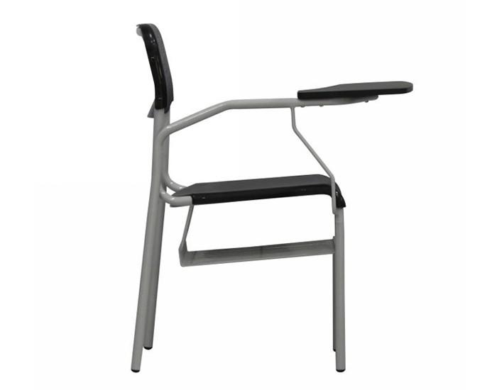 Cadeira Fixa ESC003 - Base Fixa Cinza - Com Prancheta Fixa - COM GRADIL - Linha Escolar - Frisokar