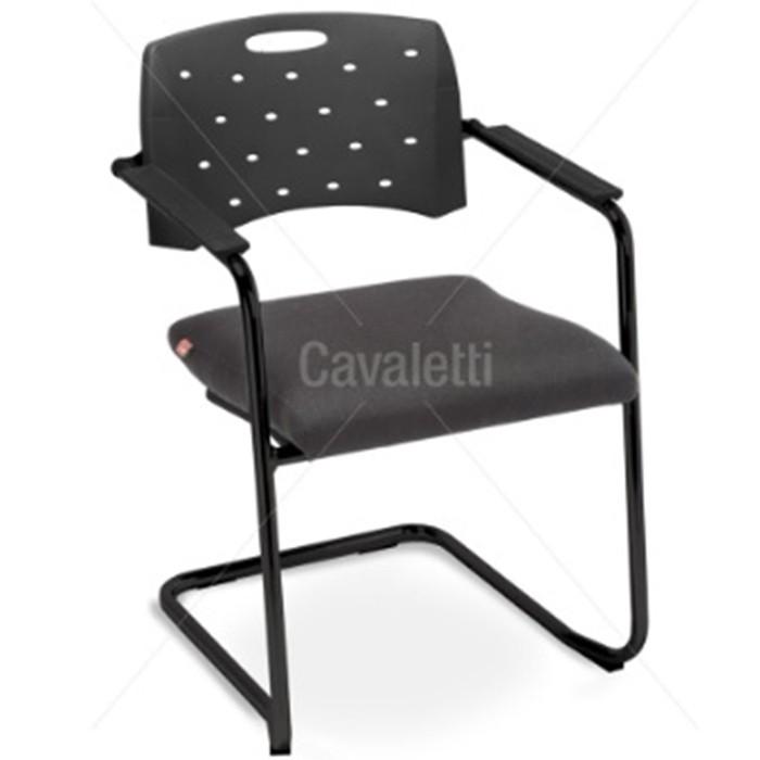 Cadeira para escritório fixa Aproximação 35007 SE ESTRUTURA PRETA - Linha Viva - Cavaletti