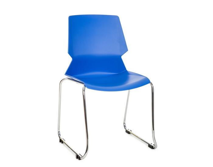 Cadeira Fixa ANM30F - Encosto Anatômico - Base Cromada - Anima Home & Office