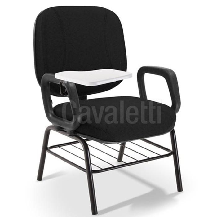 Cadeira Universitária 4007 PUE Extra - Capacidade 140kg - Com Gradil - Prancheta Escamoteável -Cavaletti