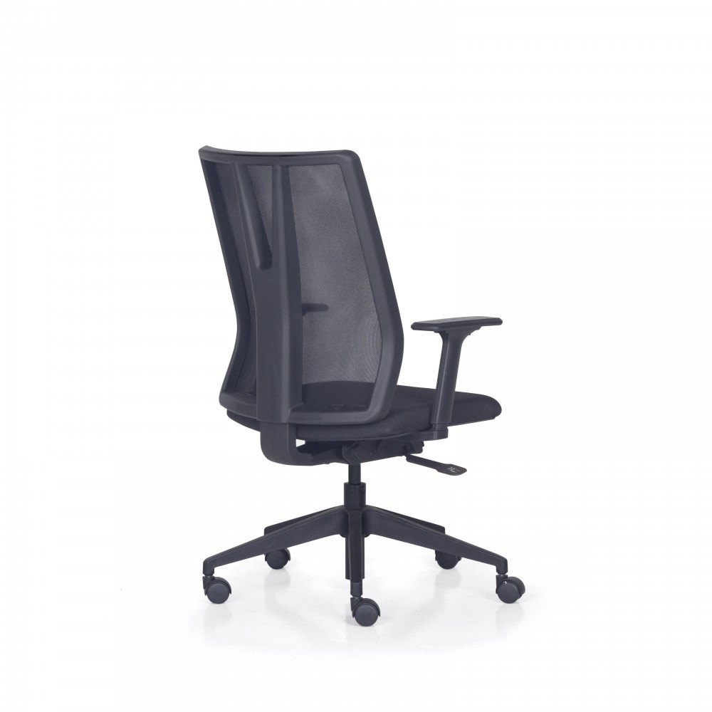 Cadeira Para Escritório Giratória Presidente- Addit Alta  - Mecanismo Evolution (Back System) - Base Piramidal Nylon - Linha Addit - Com Braço - Frisokar -