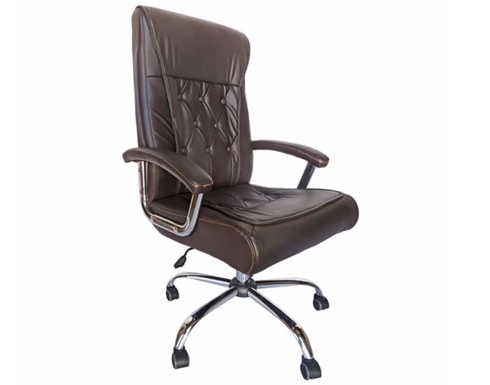 Cadeira Presidente - Com Capitonê - Relax -  Base Cromada - Pelegrin