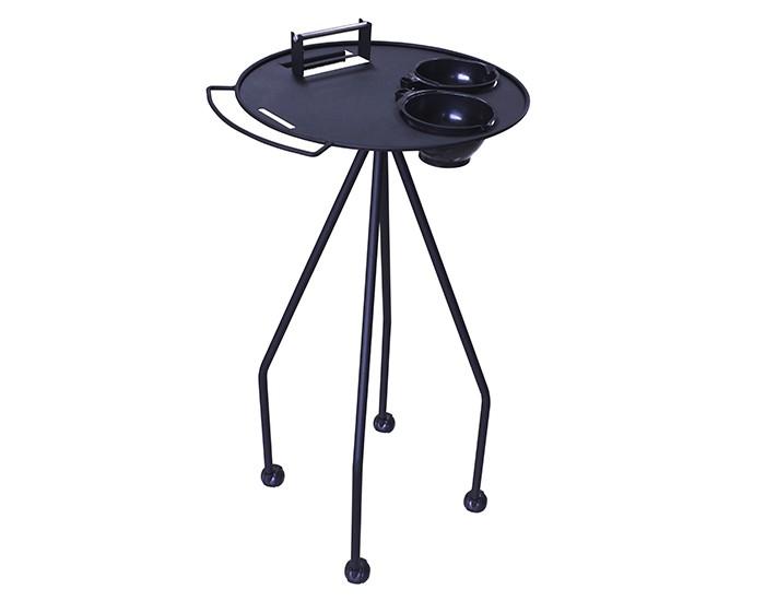 Carrinho De Tintura - Estrutura em Aço Pintado - 02 Potes - Com Rodízios - Kixiki Móveis