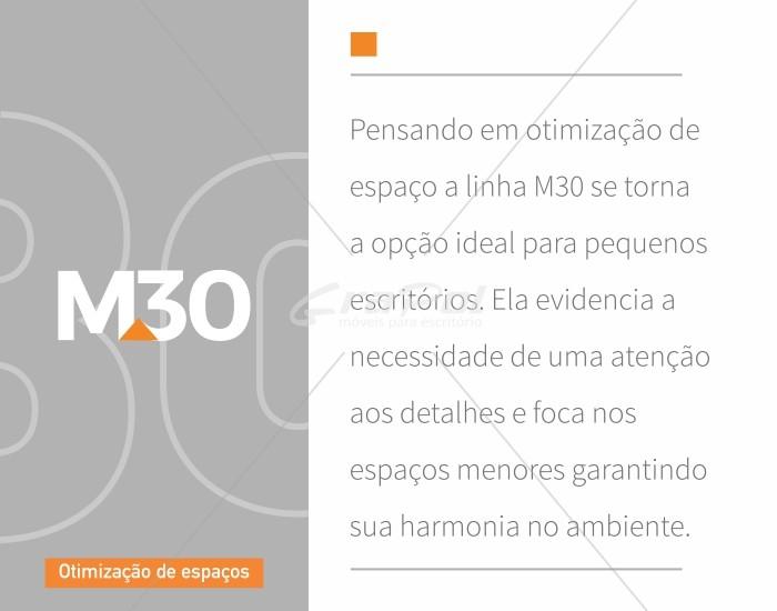 Gaveteiro Volante - 4 Gavetas - MDP 30mm - 467mm x 420mm x 405mm -