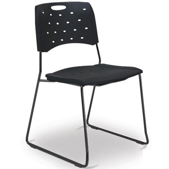 Cadeira para escritório fixa 35008 A - Estrutura Preta - Linha Viva - Cavaletti