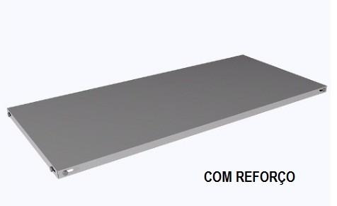 Prateleira avulsa de aço - COM REFORÇO - com parafusos e porcas. 925mm x 420mm