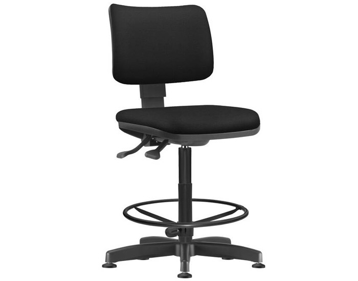 Cadeira Caixa Giratória ZIPCX241 - Sem Braço - Mecanismo Evolution - Base Caixa com Aro - Encosto Estofado - Linha Job  - Frisokar