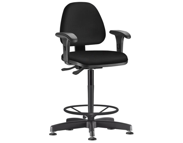 Cadeira Caixa Giratória SKYCX539 - Mecanismo Evolution - Base Caixa com Aro - Linha Job - Braço PP  - Frisokar