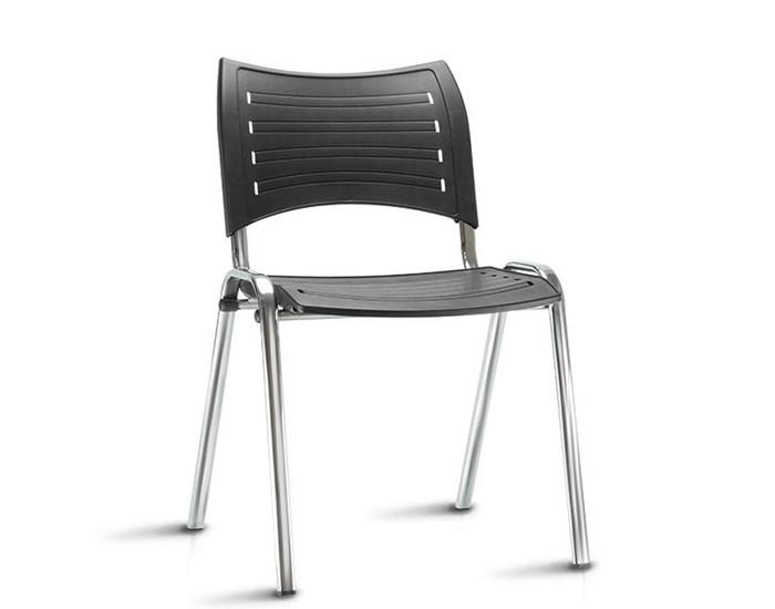 Cadeira Fixa ISO018 - Base Fixa Cromada - Linha ISO- Sem Braço - Frisokar