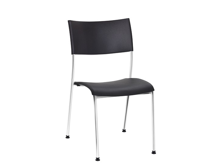 Cadeira Fixa NEW004 - Base Fixa Cromada - Linha New Coletiva- Sem Braço - Frisokar