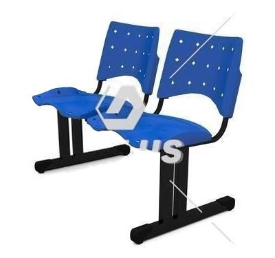 Cadeira Longarina Plástica - 02 Lugares - Dellus
